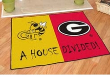 Georgia Tech Yellow Jackets - Georgia Bulldogs House Divided Floor Mat