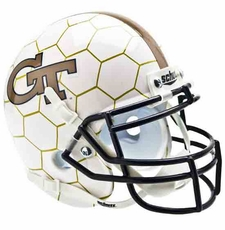 Georgia Tech Yellow Jackets Honeycomb Schutt Authentic Mini Helmet