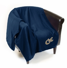 Georgia Tech Yellow Jackets Sweatshirt Throw Blanket