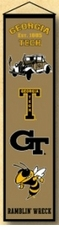 Georgia Tech Yellow Jackets Wool 8x32 Heritage Banner