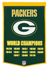 Green Bay Packers 24 x 36 Wool Dynasty Banner