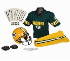 Green Bay Packers Deluxe Youth / Kids Football Uniform Set