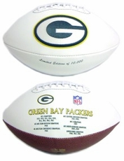 Green Bay Packers Embroidered Autograph Signature Series Football