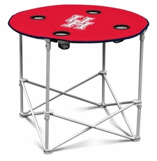 Houston Cougars Round Tailgate Table