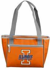 Illinois Fighting Illini 16 Can Cooler Tote