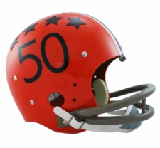 Illinois Fighting Illini 1964 Riddell NCAA TK 2-Bar Suspension Throwback Full Size Helmet