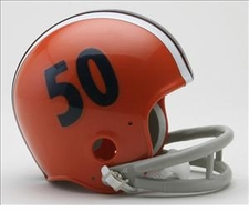 Illinois Fighting Illini 1964 Throwback Replica 2-Bar Mini Helmet