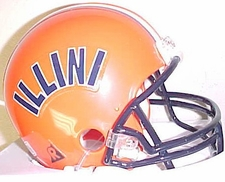 Illinois Fighting Illini 1977-79 Throwback Replica Mini Helmet