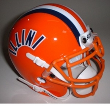 Illinois Fighting Illini 1984 Schutt Throwback Mini Helmet
