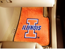 Illinois Fighting Illini 2-Piece Carpeted Car Mats Front Set