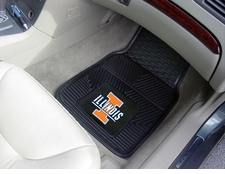 Illinois Fighting Illini 2-Piece Heavy Duty Vinyl Car Mat Set