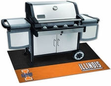 Illinois Fighting Illini 26x42 Grill Mat