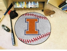 "Illinois Fighting Illini 27"" Baseball Floor Mat"