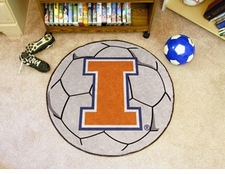 "Illinois Fighting Illini 27"" Soccer Ball Floor Mat"