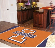 Illinois Fighting Illini 5'x8' Floor Rug