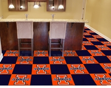 Illinois Fighting Illini Carpet Tiles - 20 18x18 Square Tiles