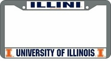 Illinois Fighting Illini Chrome License Plate Frame