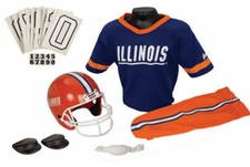 Illinois Fighting Illini Deluxe Youth / Kids Football Helmet Uniform Set