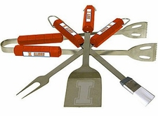 Illinois Fighting Illini Grill BBQ Utensil Set