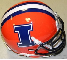 Illinois Fighting Illini 'I' Schutt XP Authentic Mini Helmet