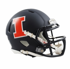 Illinois Fighting Illini Navy Riddell Speed Mini Helmet