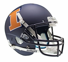 Illinois Fighting Illini Navy Schutt XP Full Size Replica Helmet