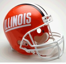 Illinois Fighting Illini 'Illinois' Riddell Deluxe Replica Helmet