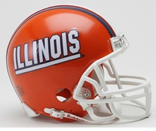 Illinois Fighting Illini Riddell Replica Mini Helmet