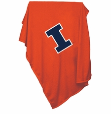 Illinois Fighting Illini Sweatshirt Blanket (Orange)