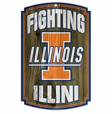 Illinois Fighting Illini Wood Sign