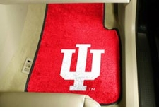 Indiana Hoosiers 2-Piece Carpeted Car Mats Front Set