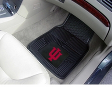 Indiana Hoosiers 2-Piece Heavy Duty Vinyl Car Mat Set
