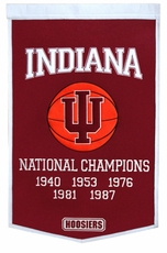 Indiana Hoosiers 24 x 36 Basketball Dynasty Wool Banner