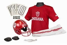 Indiana Hoosiers Deluxe Youth / Kids Football Helmet Uniform Set