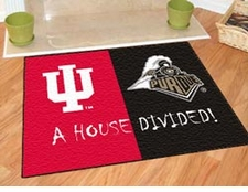 Indiana Hoosiers - Purdue Boilermakers House Divided Floor Mat