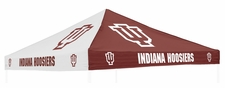 Indiana Hoosiers Red / White Logo Tent Replacement Canopy