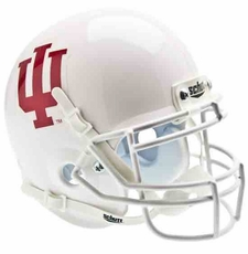 Indiana Hoosiers White Schutt Authentic Mini Helmet
