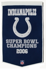 Indianapolis Colts 24 x 36 Wool Dynasty Banner