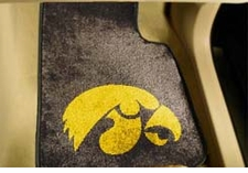 Iowa Hawkeyes 2-Piece Carpeted Car Mats Front Set