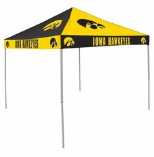 Iowa Hawkeyes Black / Yellow Checkerboard Logo Canopy Tailgate Tent