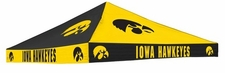Iowa Hawkeyes Black / Yellow Checkerboard Logo Tent Replacement Canopy