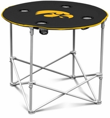Iowa Hawkeyes Round Tailgate Table
