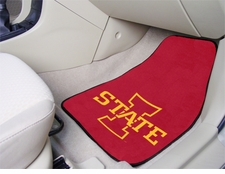 Iowa State Cyclones 2-Piece Carpeted Car Mats Front Set