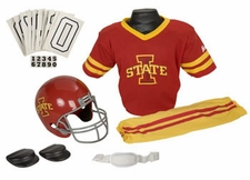 Iowa State Cyclones Deluxe Youth / Kids Football Helmet Uniform Set