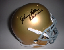 Johnny Lattner Heisman Autographed Notre Dame Fighting Irish Mini Helmet
