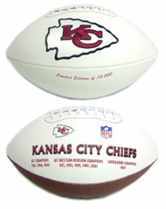 Kansas City Chiefs Embroidered Autograph Signature Series Football