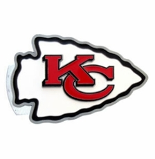 Kansas City Chiefs Logo Trailer Hitch Cover