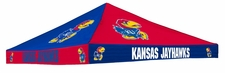 Kansas Jayhawks Blue / Red Checkerboard Logo Tent Replacement Canopy