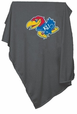Kansas Jayhawks Charcoal Sweatshirt Blanket