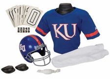 Kansas Jayhawks Deluxe Youth / Kids Football Helmet Uniform Set